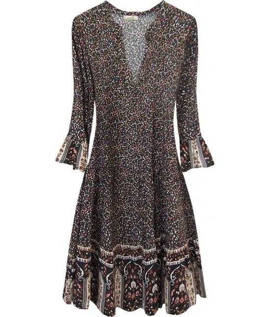Dámske šaty MODA574/1 čierne