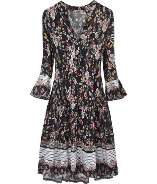 Dámske šaty MODA574/2 čierne