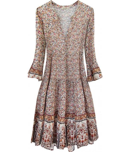 Dámske šaty MODA574/3 ecru