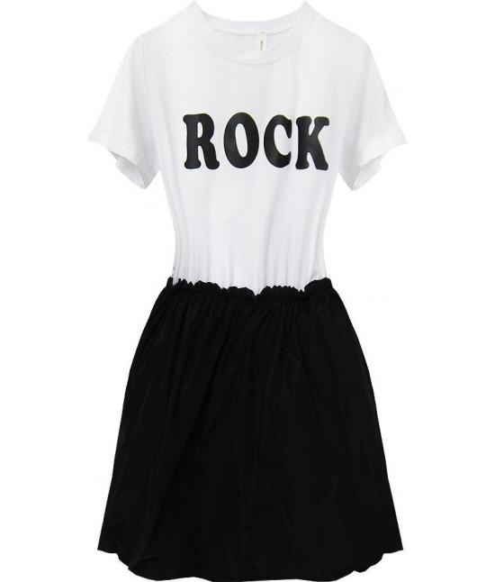 Dámske šaty MODA573 čierno-biele