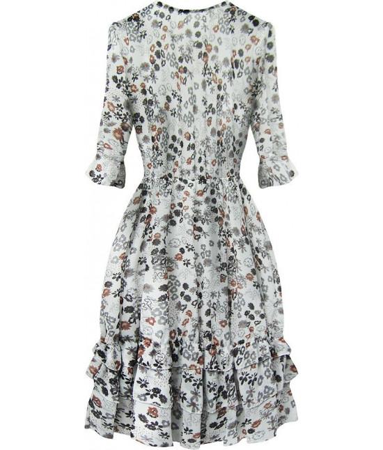 Dámske šifónové šaty MODA580 biele