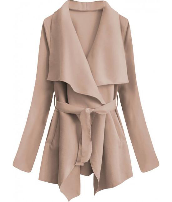 Dámsky jarný plášť MODA553 béžový