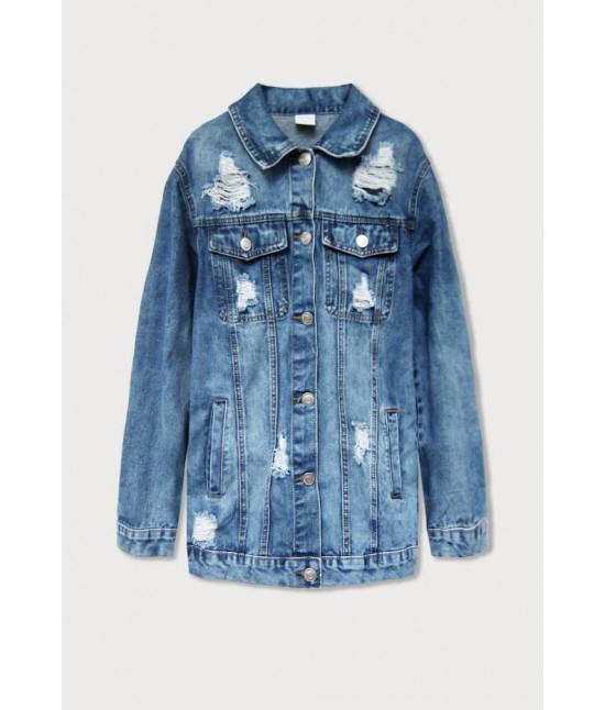 Dámska jeansová bunda MODA039 modrá