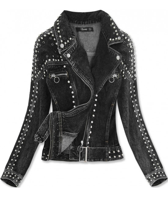 Dámska jeansová bunda MODA815 čierna