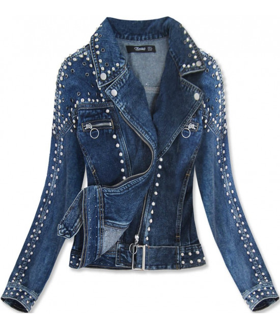 Dámska jeansová bunda MODA815 modrá