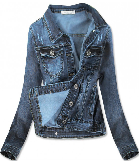 Dámska jeansová bunda MODA007 modrá