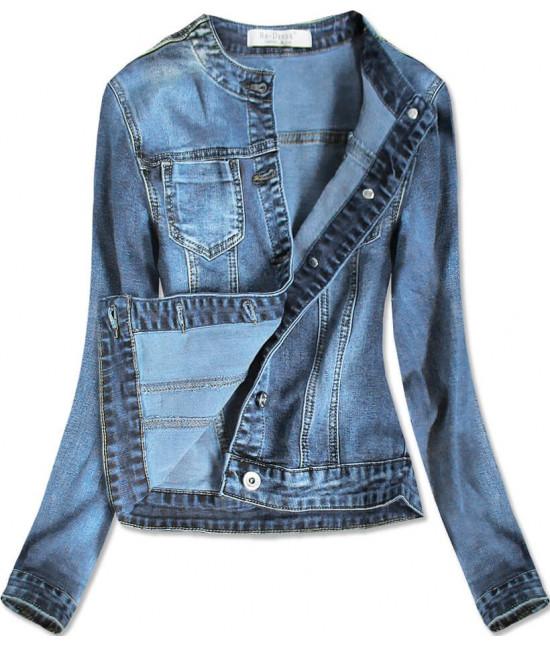 Dámska jeansová bunda MODA016 modrá