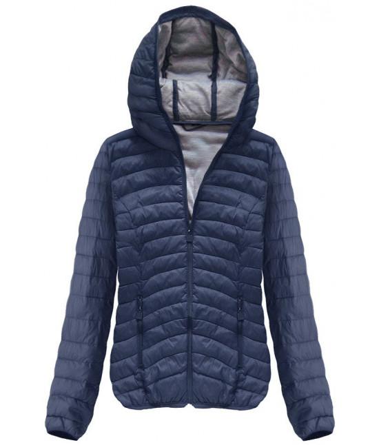 Dámska jarná bunda s kapucňou MODA113 tmavomodrá S
