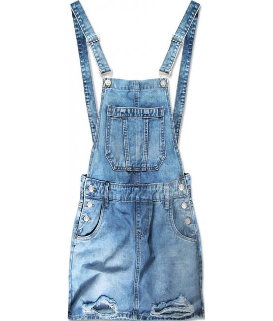 Dámska jeasnová sukňa na traky MODA045 modrá