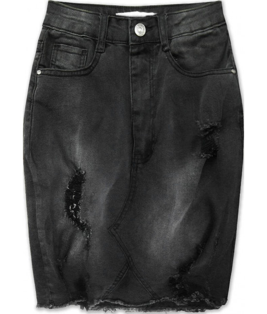 Dámska jeansová sukňa MODA662 čierna