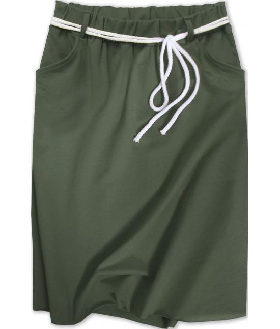Dámska tepláková sukňa MODA592 khaki
