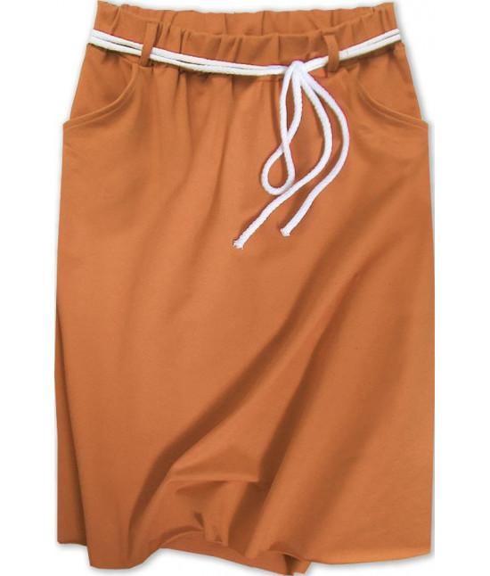 Dámska tepláková sukňa MODA592 karamelová