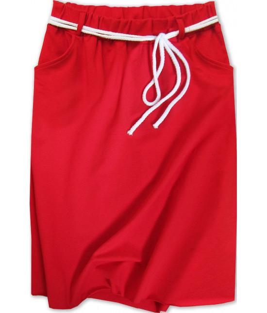 Dámska tepláková sukňa MODA592 červená