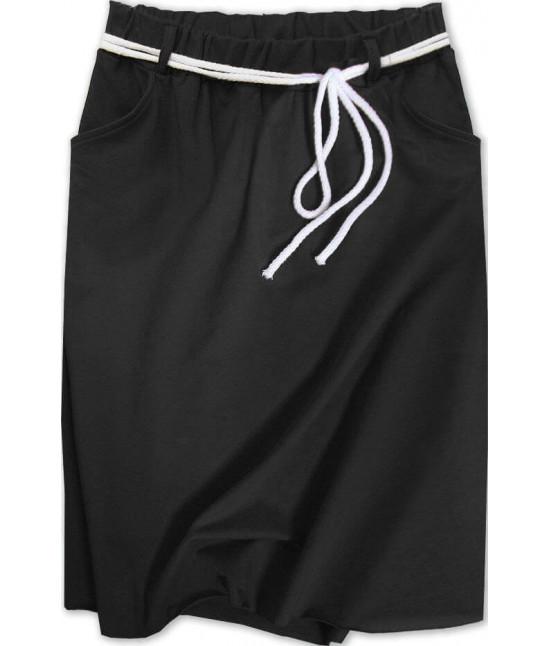 Dámska tepláková sukňa MODA592 čierna