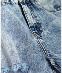 Dámske jeansové šortky s vysokým pásom MODA120