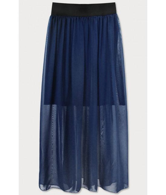 Dámska Maxi sukňa MODA596 tmavomodrá