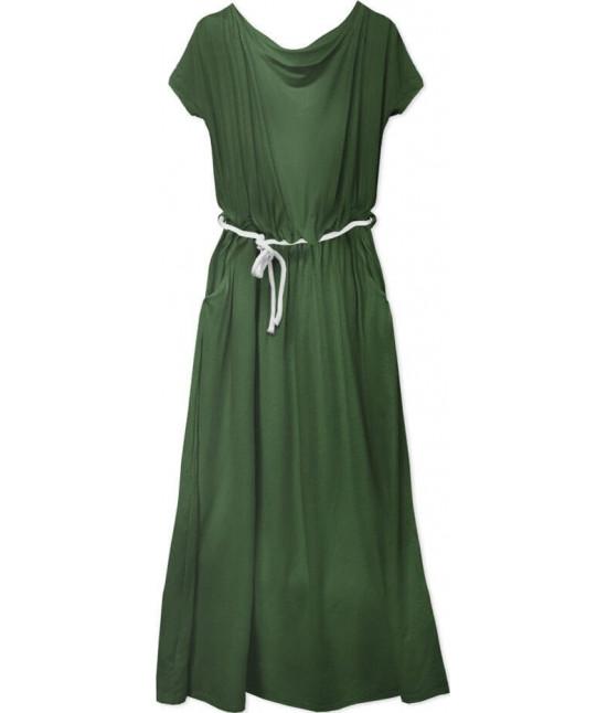 Voľné dámske šaty MODA593 khaki