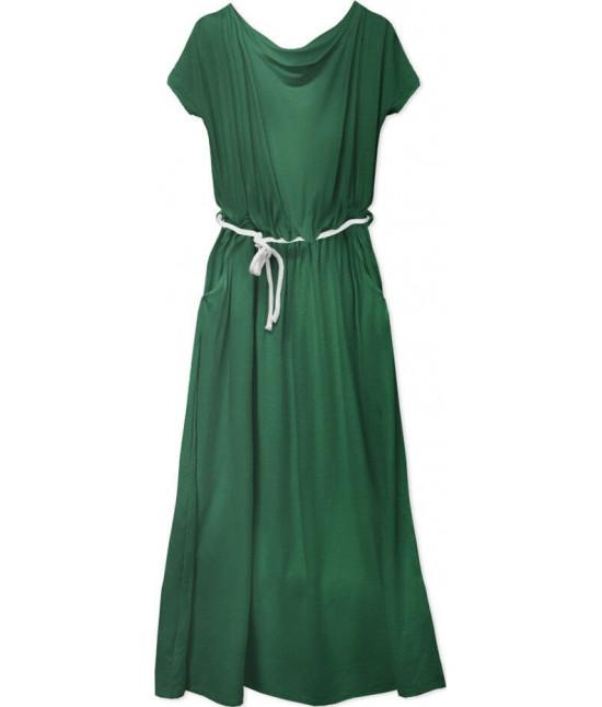Voľné dámske šaty MODA593 zelené