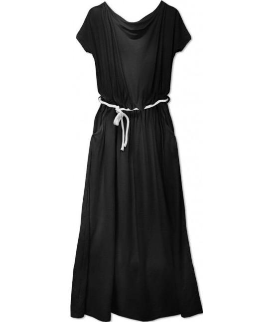 Voľné dámske šaty MODA593 čierne