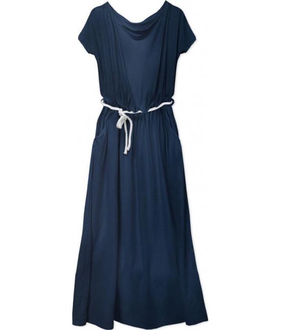 Voľné dámske šaty MODA593 tmavomodré