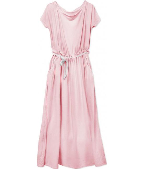 Voľné dámske šaty MODA593 ružové