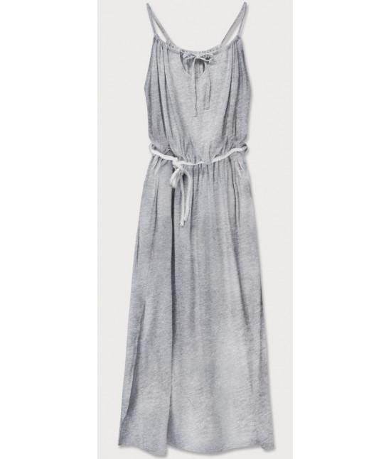 Dámske dlhé šaty MODA594 šedé