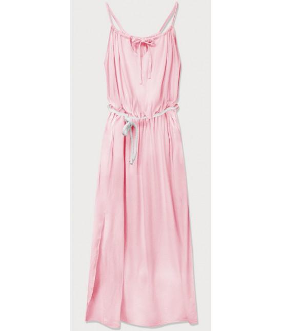 Dámske dlhé šaty MODA594 ružové