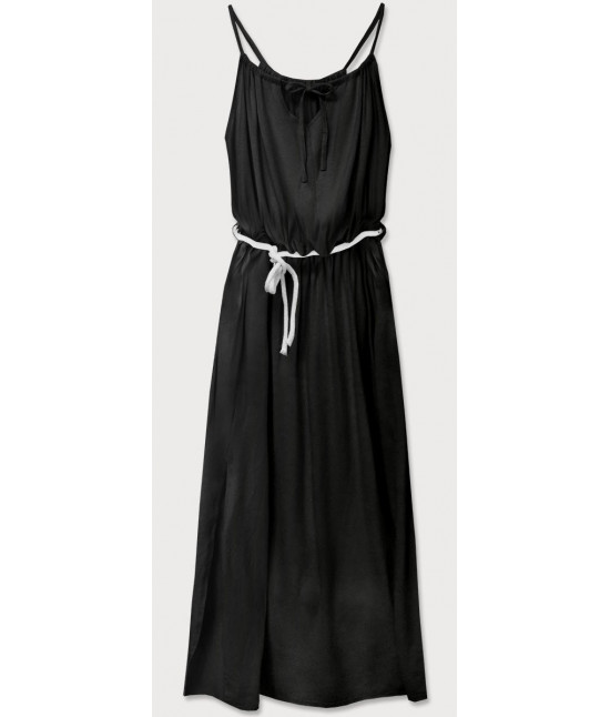 Dámske dlhé šaty MODA594 čierne