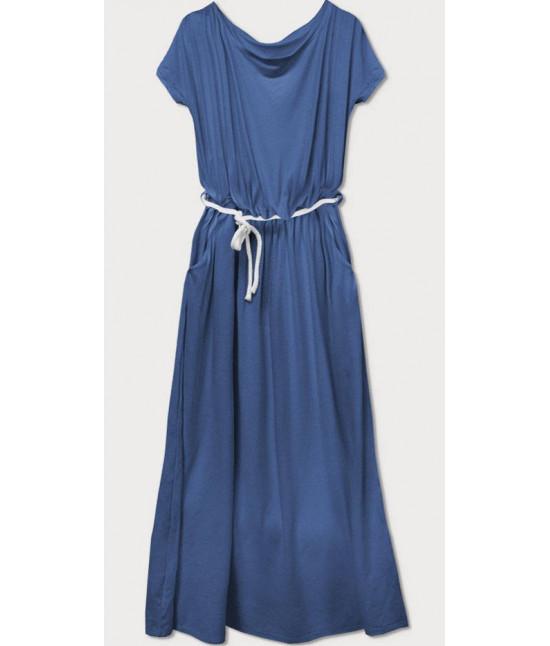 Voľné dámske šaty MODA593 modré
