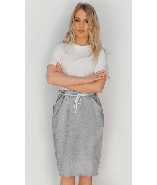 Dámska tepláková sukňa MODA592 šedá