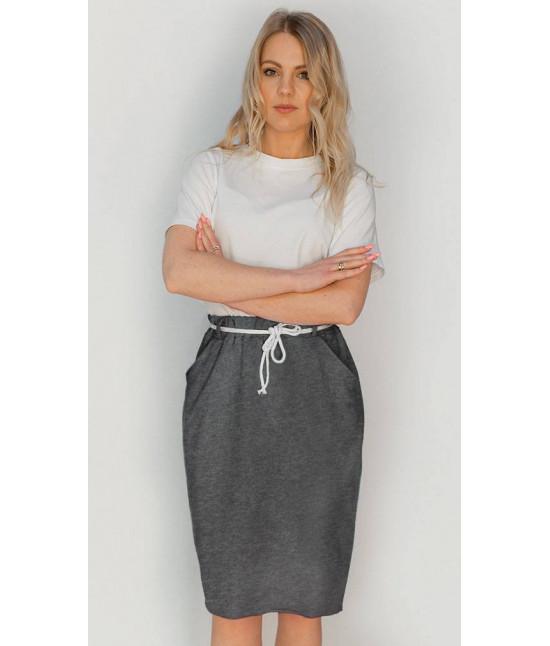 Dámska tepláková sukňa MODA592 grafitová
