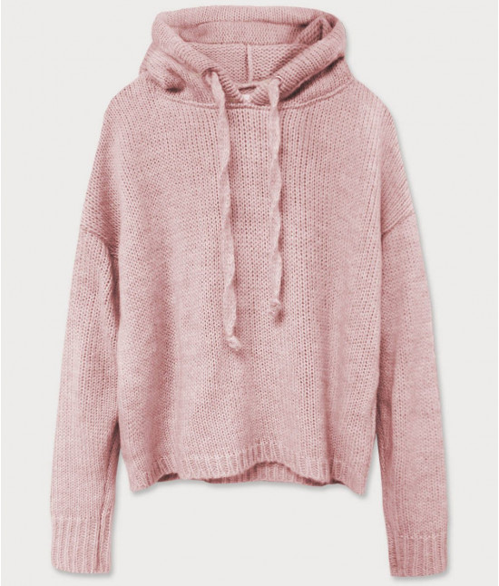 Dámsky sveter s kapucňou MODA603 staroružový