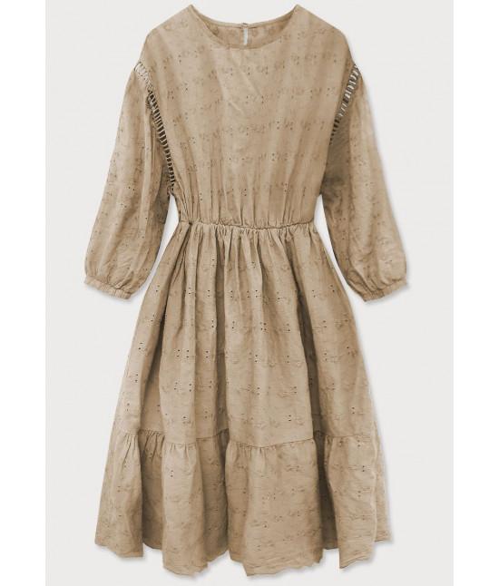 Dámske šaty MODA615 béžové
