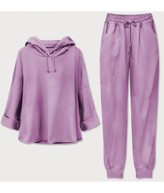 Dámska bavlnená tepláková súprava MODA609 fialová