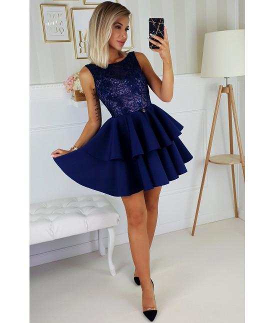 Dámske spoločenské šaty MODA175 tmavomodré