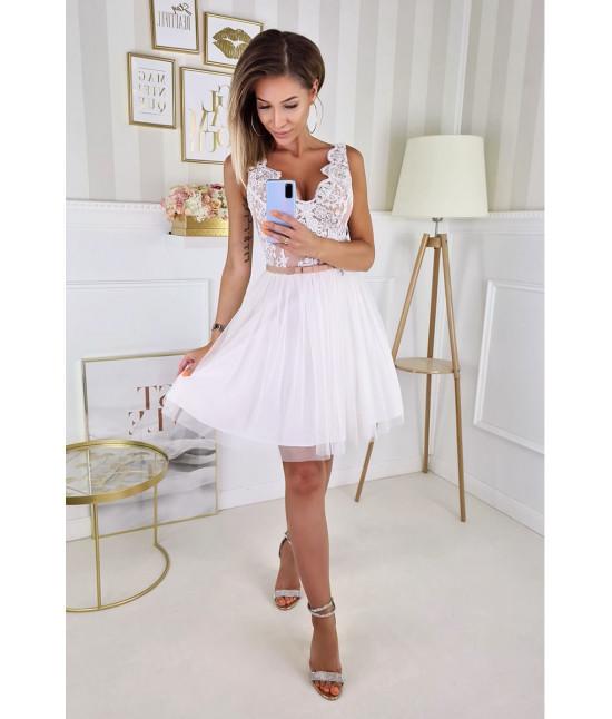 Dámske spoločenské šaty MODA206 ecru-béžové