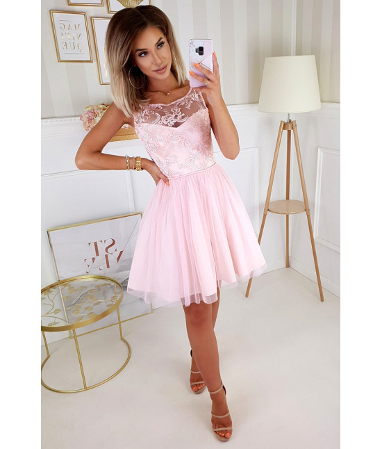 Dámske spoločenské šaty MODA207 ružové