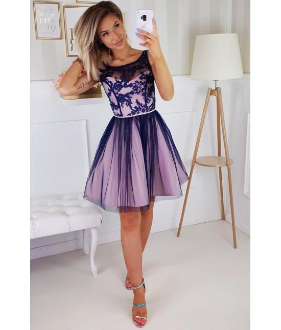 Dámske spoločenské šaty MODA207 modré