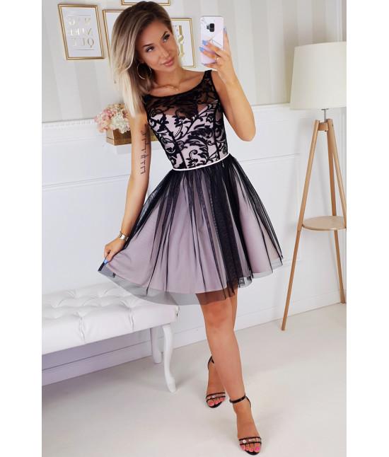 Dámske spoločenské šaty MODA207 čierna