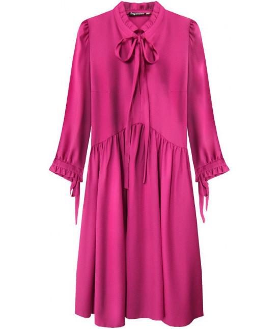 Dámske šaty MODA208 cyklamenové veľkosť S