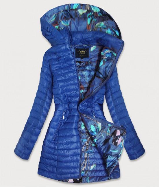Dámska dlhá jesenná bunda MODA178 modrá