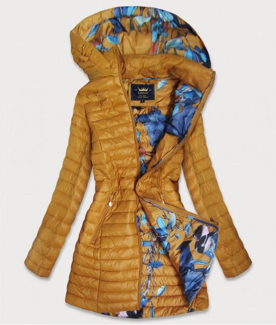Dámska dlhá jesenná bunda MODA178 žltá