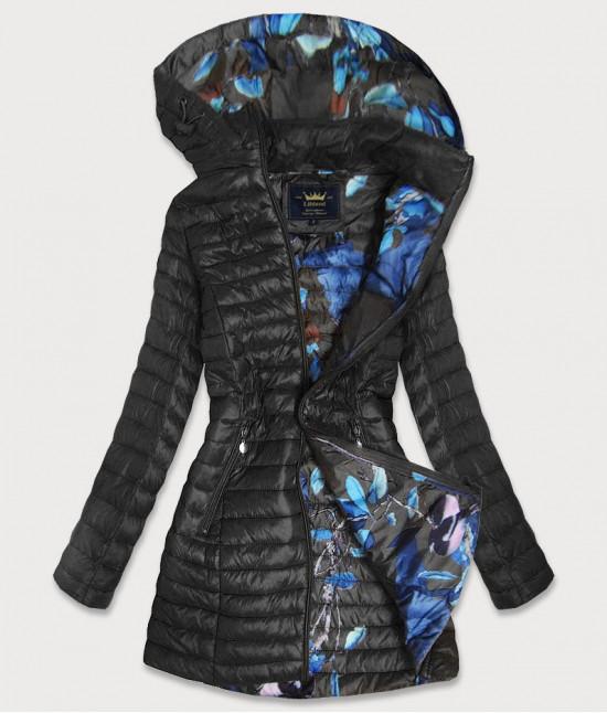 Dámska dlhá jesenná bunda MODA178 čierna