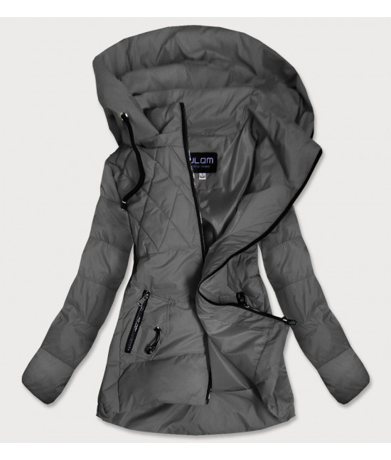 Dámska jesenná bunda MODA905 tmavošedá