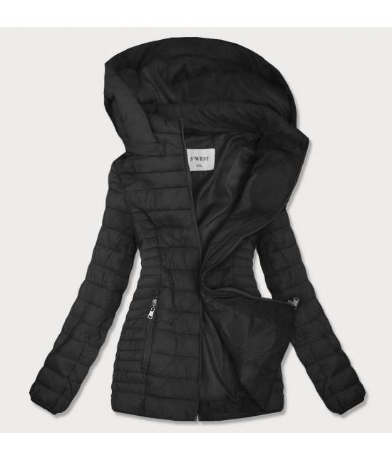 Dámska jesenná bunda MODA103BIG čierna