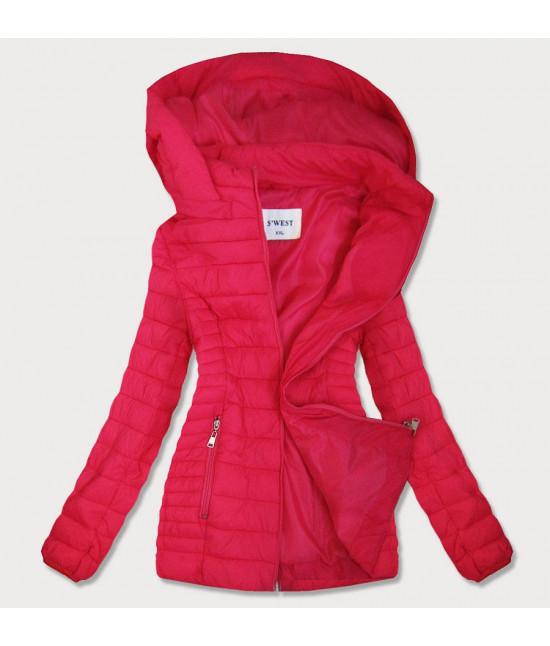 Dámska jesenná bunda MODA103BIG ružová