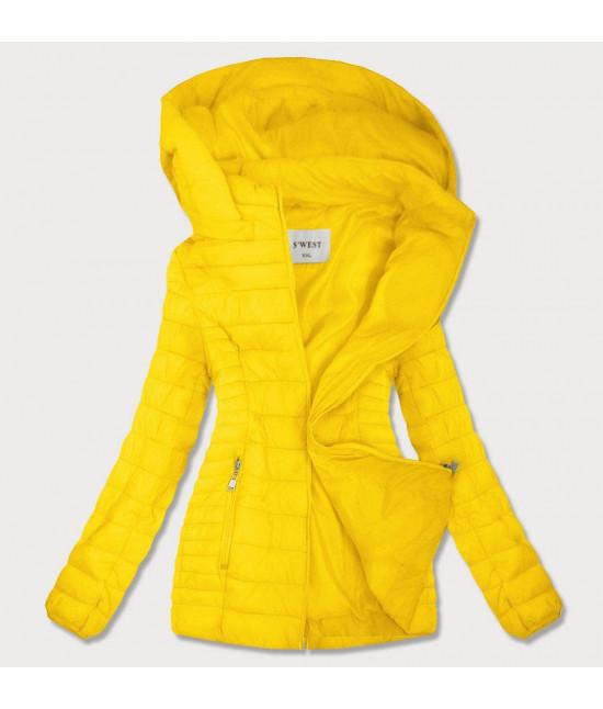 Dámska jesenná bunda MODA103BIG žltá