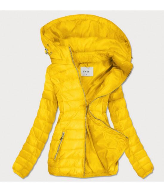 Dámska prechodná bunda MODA106 žltá