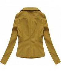Dámska koženková bunda 5324BIG horčicová
