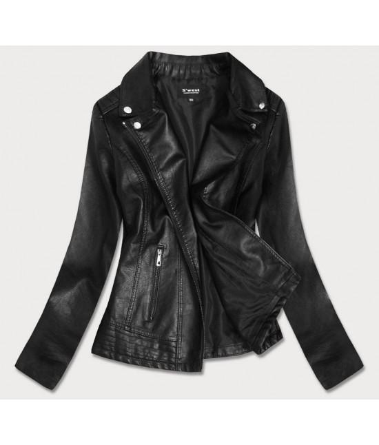 Dámska koženková bunda MODA20 čierna